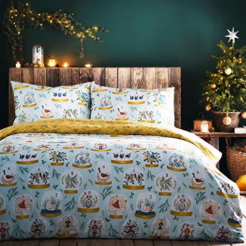 furn. Twelve Days of Christmas Duvet Cover Set, Blue, King