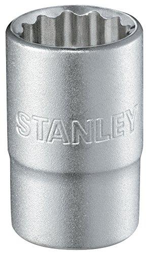 Preisvergleich Produktbild Stanley 1 / 2 Zoll Steckschlüssel 12-Kant (20 mm,  38 mm Länge,  metrisch,  Chrom-Vanadium Stahl,  Maxi-Drive Profil) 1-17-063