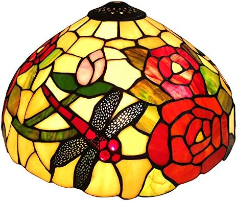 NOSHY Premium Dragonfly Tiffany Lamp Shade Replacement for Table Lamp SH 057 14 Inch Diameter product image