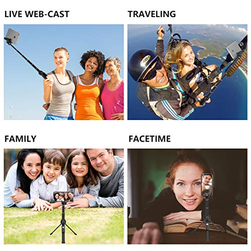 Selfie Stick, Professional 45-Inch Selfie Stick Tripod, Extendable Selfie Stick with Wireless Remote and Tripod Stand for iPhone 6 7 8 X Plus/Samsung Galaxy Note 9/S9 Plus and More