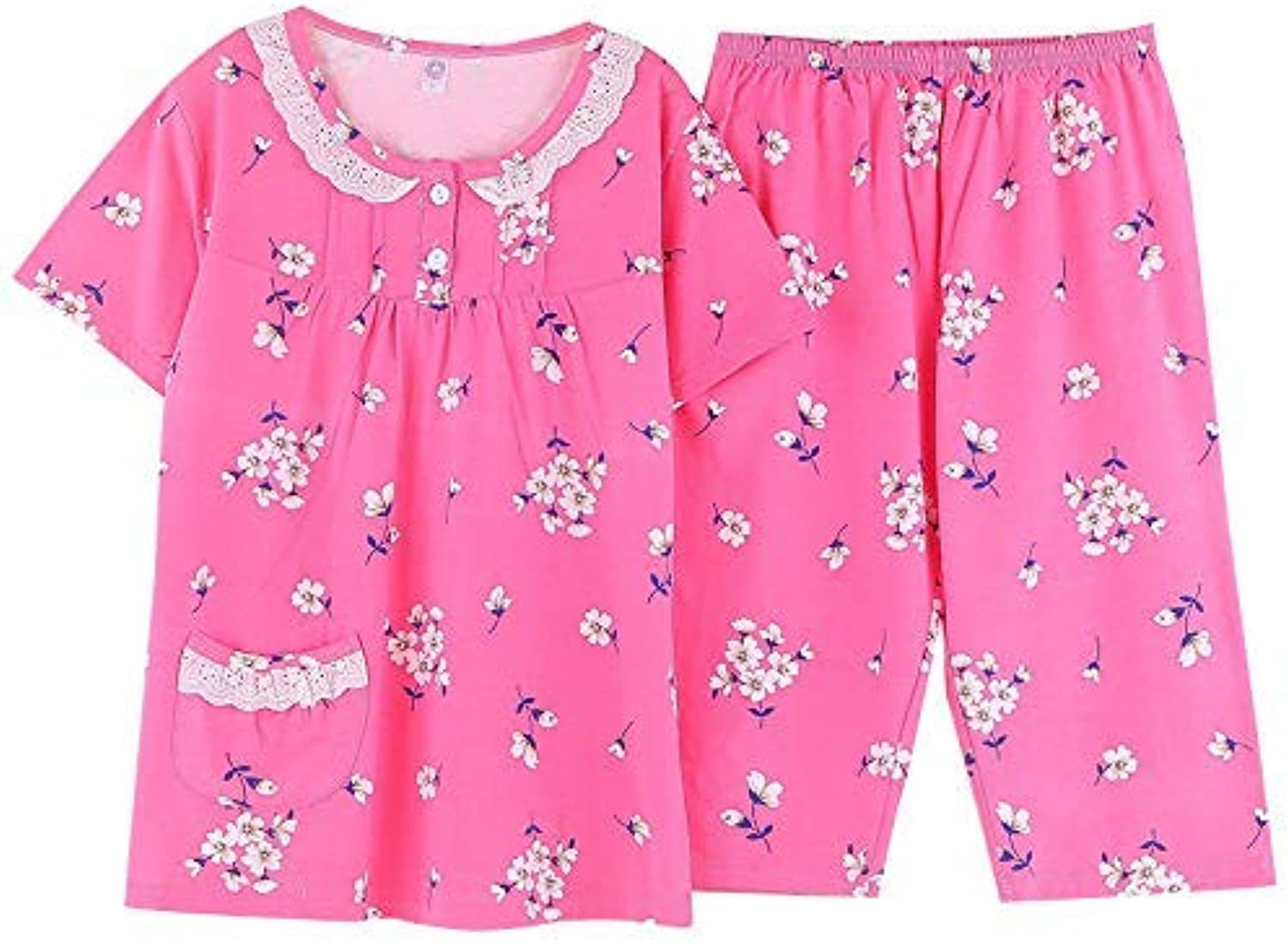 Cute Pajamas Season Cotton Pajamas Ladies Home Service Suit Two Sets can be Worn (Size   XXL) Sexy Sleepwear (Size   XXLarge)