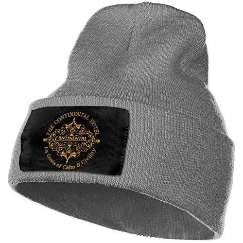 lucky-bonbon El Conti-NEN-Tal Hotel de John W-Ick Logo Tema Gorro de punto para hombre con forro de lana Gorro sin mangas Sombrero de esquí de moda casual de invierno para hombre Regalos para hombre