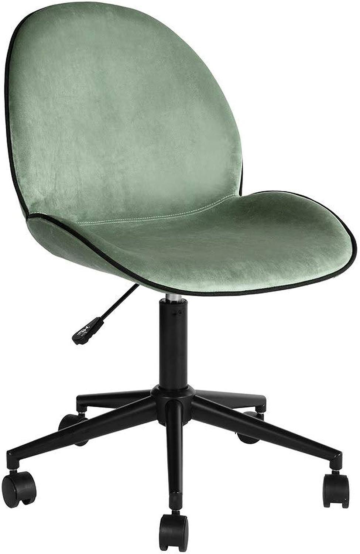 Homy Casa Home Office Desk Chair Chair Velvet Cactus Green