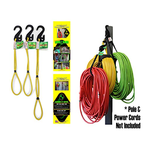 Bungee Cord Garage Organizer Storage Tool. Stocking Stuffers Christmas Holiday Gift Ideas For Men. Sports Equipment, Bike, Hoses, Cords Easy Hook and Hang In Shop, Basement, Closet. No Rack or Shelves