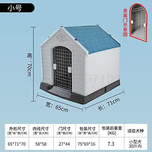Kennel LKU Hondenhok winter gesloten type warme hondenkennel grote hondenhok buiten regendichte kennelhond, 70x65x71cm