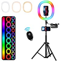 Mosunece 12 Inch RGB Ring Light with Stand and Phone Holder