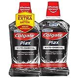 COLGATE Collutorio Plax Carbon+White Bipacco, con estratti di Carbone,...