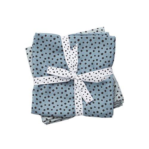 Done by Deer Happy Dots Lot de 2 mousselines Bleu
