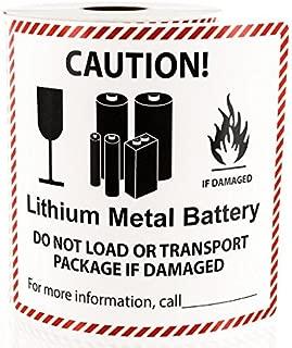 Lithium Metal Battery Handling Labels LV-SL12