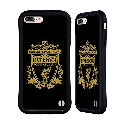 Head Case Designs Oficial Liverpool Football Club Negro 3 Cresta 1 Carcasa híbrida Compatible con Apple iPhone 7 Plus/iPhone 8 Plus