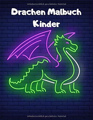 Drachen Malbuch Kinder: Einseitig 90 einzigartige Drachen Ausmalbilder für Kinder. Lernen Tier Spaß Fakten Buchgröße 8,5 x 11 Zoll (Drachen Malbuch Kinder Band 8)