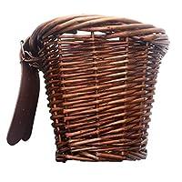 SUSUQI 自転車車載かご 籐製 環境保護 人工織物製織技術 耐久性 防水加工 子供車 小径車用 友人 子供への贈り物