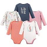 Hudson Baby Unisex Baby Cotton Long-Sleeve Bodysuits, Woodland Fox, 0-3 Months