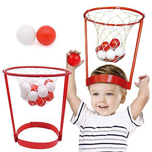 WYLDDP Mini-Kleinkind-Basketballkorb, Kinder Spielzeug für draußen Kopf Basketball, Geeignet für Innen- und Außen Garten Eltern-Kind-Games Interactive.