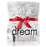 BW Bath and Body Faux Fur Blanket Sweet Dreamer Dream Dreams Throw Sealed