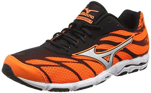 Mizuno Wave Hitogami 3, Zapatillas de Running para Hombre, Naranja (clownfish/silver/black), 40 EU (6.5 UK)