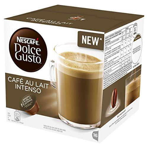 NESCAFÉ Dolce Gusto Lait Intenso Kaffeepads, 16 Kapseln (Packung mit 3 - insgesamt 48 Kapseln, 48 Portionen)