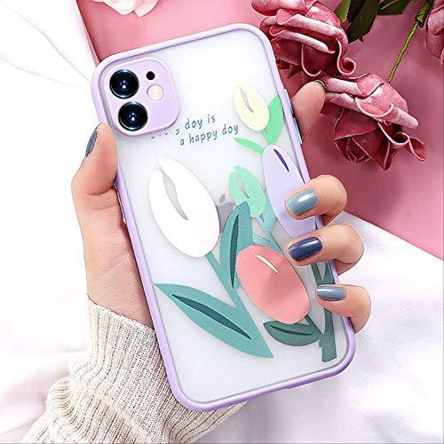 Estuche para teléfono a Prueba de Golpes para iPhone XR Estuches Luxury Hard PC Soft Edge Funda en iPhone 11 12 Pro MAX Mini 7 8 XS MAX 6 6s Plus Funda para iPhone 11 Pro 2O114