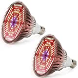 [2 Pack] LVJING 120W Led Grow Light Bulb Full Spectrum, Plant Light Bulb with 180 LEDs for Indoor Plants, Grow Lamp for Hydroponic Garden Flowers Veg Growing E26/E27 (Update 100w Grow Light Bulb)