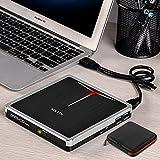 External DVD Drive USB 3.0/Type-C 5 in 1 Slim CD/DVD+/-RW Drive Burner CD Player for Laptop Mac Desktop PC MacBook Pro Air Windows