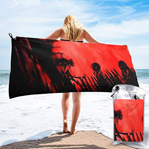 Anime Maria-sama ga Miteru Schnelltrocknendes Badetuch Mikrofaser Weiche, flauschige Strandtücher können als Camping Yoga Gym Pool Bad Strandkorb Wandern Badetuch Schnelltrocknen- verwendet werden