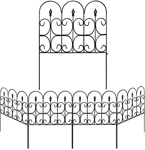 Amagabeli Decorative Garden Fence Outdoor Coated Metal...