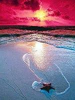 風景クロスステッチの海のラインストーンアートピクチャーキットのホームインテリア絵画5D DIYダイヤモンド刺繍 SSHZJUS (Color : 541, Size : Round Drill 80x60cm)