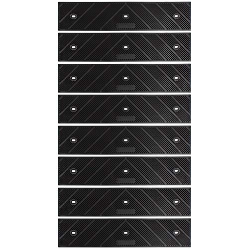 Grip Strip Max No Adhesive Tread Tape Anti Non-Slip High Traction, Safety, Step, Outdoor for Any Stairs in Outdoor Setting 15' X 3.25' (8 Pack, Black)