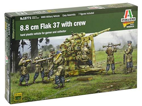 Italeri 15771 8.8 cm Flak 37 with crew Model kit easy assembly Wargames carri armati Scala 1:56 - 28 mm
