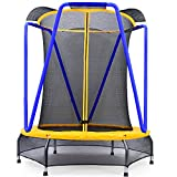 Zupapa 54 inch 4.5FT Indoor Small Trampoline for Kids Children Ultra Quiet Mini Toddler Baby...