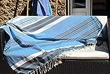 Toalla de playa extra grande XXL Soleil d'Amorgos – 145 x 245 cm – Azul...