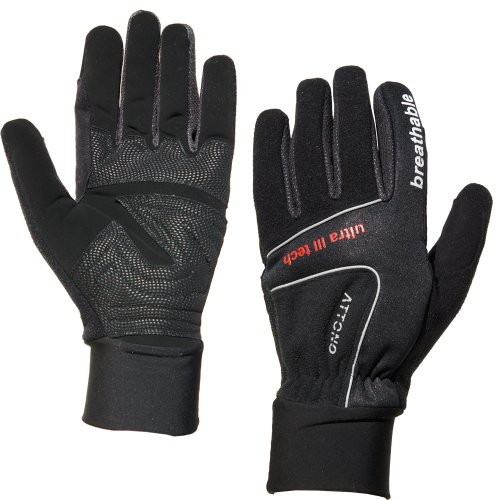 ATTONO Langlaufhandschuhe Winter Fahrradhandschuhe Langlauf Fahrrad Handschuhe schwarz Gr. 6-11