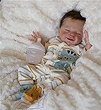 Xyfw 22 Pulgadas DIY Popular Kit De Muñecas Reborn Durmiendo April Smiley Face Muy Suave Al Tacto Color Fresco Sin Pintar Sin Terminar Piezas De Muñecas