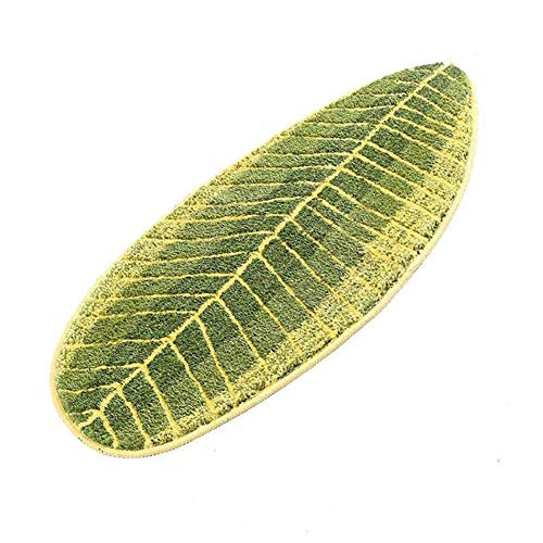 """MustMat Non Slip Kitchen Rugs and Mats Cute Leaf Shape Area Rugs Nice for Kitchen Floor/Bathroom/Bedroom 17.7""""x47.2"""""""