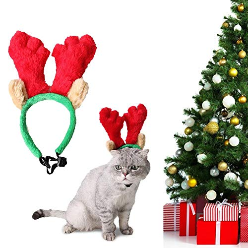 Hete-supply Huisdier Kerstmis Hoofddeksels, Hond Kat Antler Leuke Haarband, Honden Katten Vakantie Kostuum Decoratie, Kerst Accessoires, Huisdier Kostuum Party Kleding Hoofdbanden, L