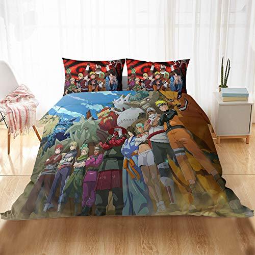 HGKY Bettbezug-Set mit Kissenbezügen, Kinder-Bettwäsche-Set, Mikrofaser, 3D-Druck, Doppelbettbezug, für Kinder und Jugendliche (I, 135 x 200 cm)