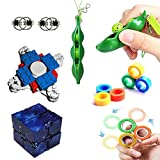 12 Pack Sensory Fidget Toys Set,Fidget Spinner,Finger Magnetic Rings,for Adults Kids ADHD ADD Anxiety Autism, Stress Relief Toys for Classroom Rewards, Birthday Party Favors, Carnival Prizes