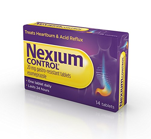 Nexium Control Heartburn and Acid Reflux Relief Tablets, 20mg Gastro-Resistant Esomeprazole Tablets, 14 Count