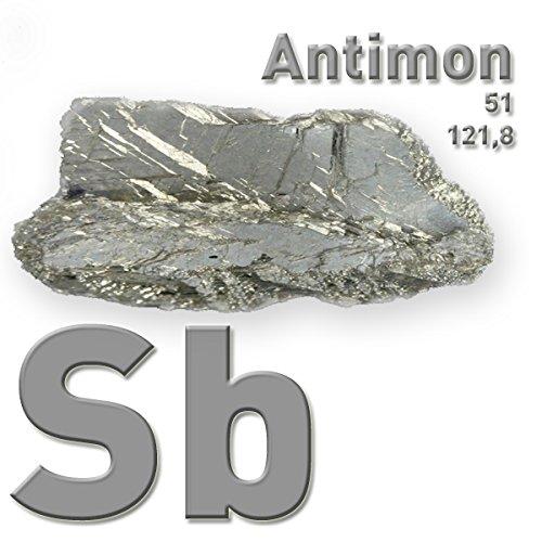 Antimon, reines Metall, Sb 99,65{abdd0e2676e1ca8fde3a5af9869d06568a498cb732e3a210cf2b54cc93a8f361}, 100 g, CAS-Nummer: 7440-36-0, Antimony, Element #51