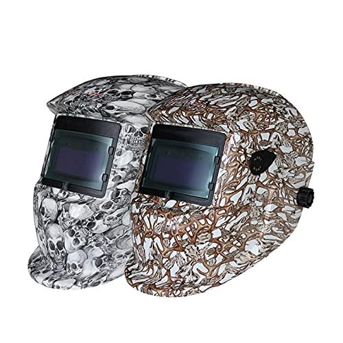Herramientas de soldadura STIPLESS AJUSTE AJUSTE SOLAR AUTOMÁTICO OSCUERZO TIG MIG Cascos de soldadura de molienda Herramienta de gafas de máscara UV/IR (Color : Skull)