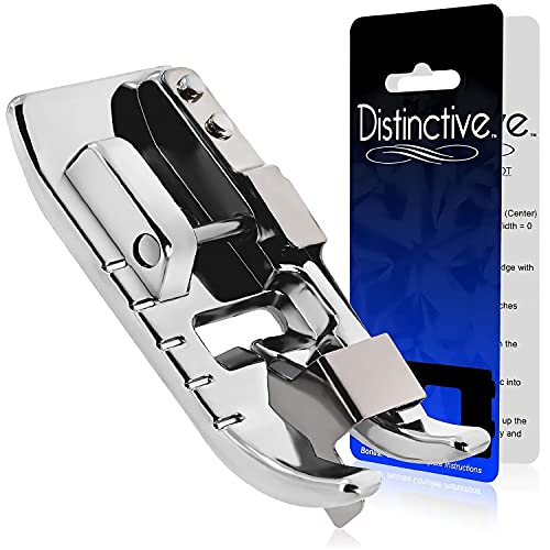 Distinctive Edge Joining/Stitch in The Ditch Sewing Machine Presser Foot - Fits All Low Shank Snap-On Singer, Brother, Babylock, Janome, Kenmore, White, Juki, New Home, Simplicity, Elna and More!