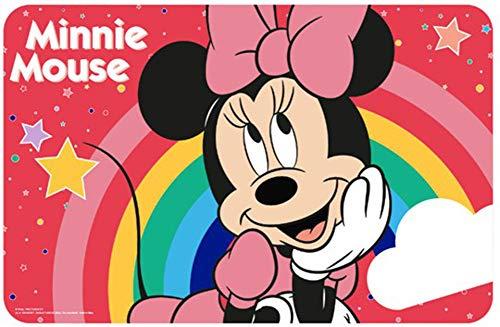 Juego de 2 manteles individuales de Minnie Mouse, para colorear, amasar, comer, color rojo