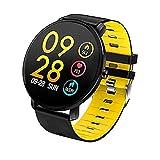 Smart Watch Herren IP68 Wasserdicht Sport Smartwatch Herrenuhr Herzfrequenzmesser Fitness Armband Activity Tracker Sport Fitness Tracker-Gelb