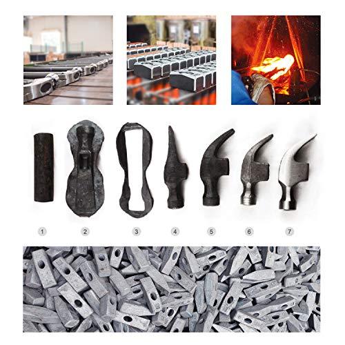 T TOPBUILT Fiberglass Handle Rubber Mallet- Durable Solid Rubber Head,for Flooring, Woodworking -Ergonomic Grip Handle (24 oz, Black)