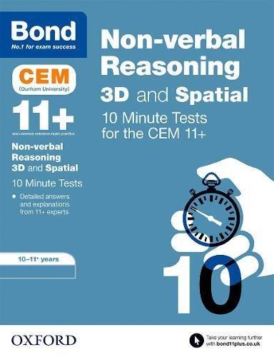 Bond 11+: CEM 3D Non-Verbal Reasoning 10 Minute Tests: 10-11 Years