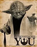Star Wars Poster Yoda May the Force be with You (40cm x