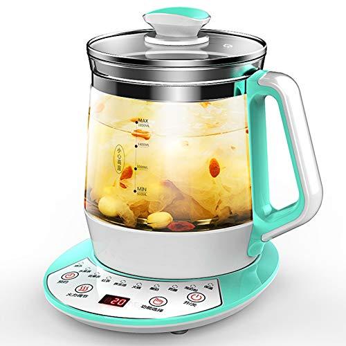 Teekocher elektrisch Glas Gesundheitstopf Wasserkocher Vollautomatischer multifunktionaler Teekannen-Bürokessel aus dickem Glas