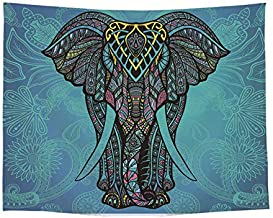 Home Decorative Wall Hanging Tapestry Yoga Mats Living Room Decor Bedspreads Tablecloths Beaches Cover Up Beach Towel Throw Blanket Elephant Printed
