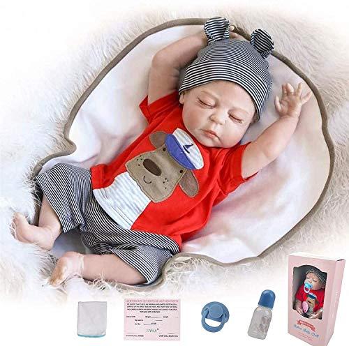 ZIYIUI Reborn Baby Puppe 20 Zoll 50 cm Ganzkörper Silikonvinyl Realistisch Baby wiedergeboren Junge Lebensechte Puppen Neugeborenes Spielzeug