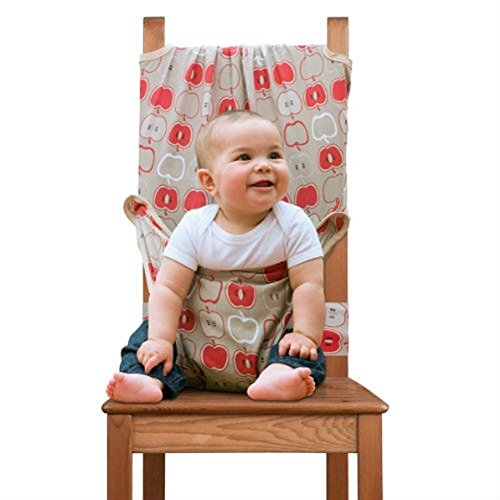 Totseat Chair Harness: The Original Washable and Squashable, Portable Travel High Chair in Apple